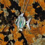 Fish Necklace on beach rocks