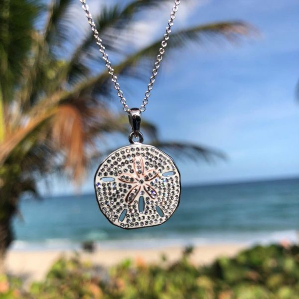 Sand dollar Necklace on Beach