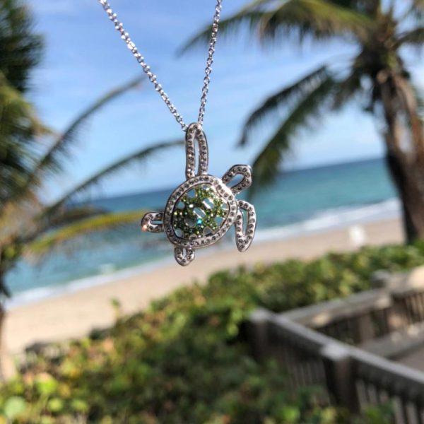 Turtle pendant on beach