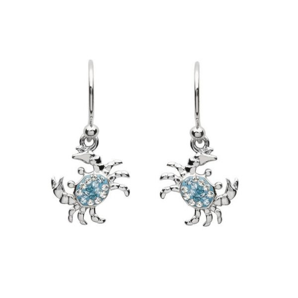 Crab Drop Earrings With Swarovski® Crystals