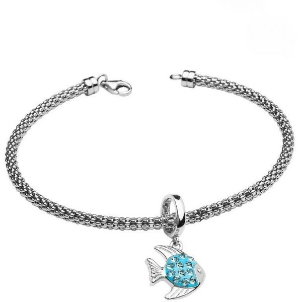 Fish Charm Bracelet With Swarovski® Crystals