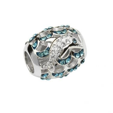 Crystal Dolphin Bead With Swarovski® Crystals