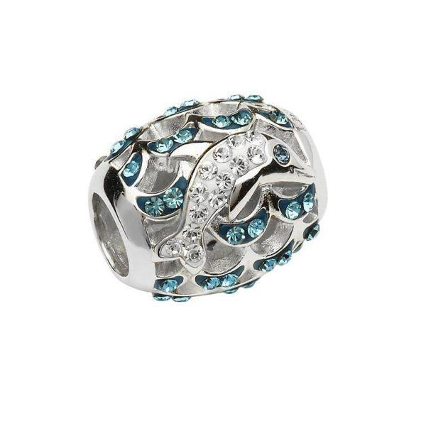 Crystal Dolphin Bead With Swarovski® Crystals