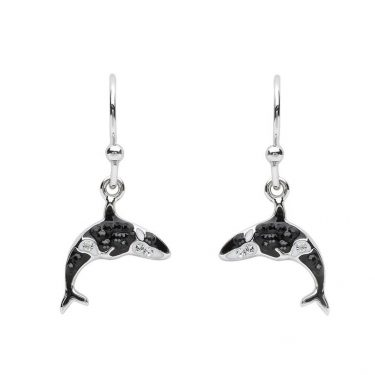 Orca Drop Earrings With Swarovski® Crystals