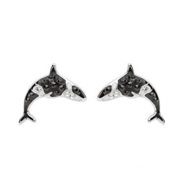 Orca Stud Earrings With Swarovski® Crystals