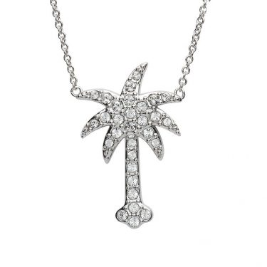 Palm Tree Necklace With Swarovski® Crystals