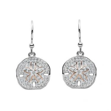 Sand Dollar Silver & Swarovski® Crystals Earrings