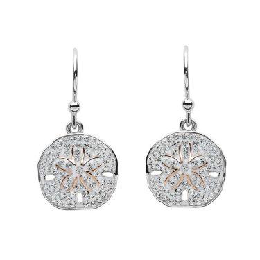 Sand Dollar Silver & Swarovski® Crystals Earrings