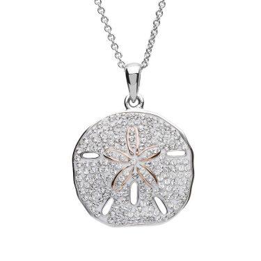 Sand Dollar Necklace With Swarovski® Crystals