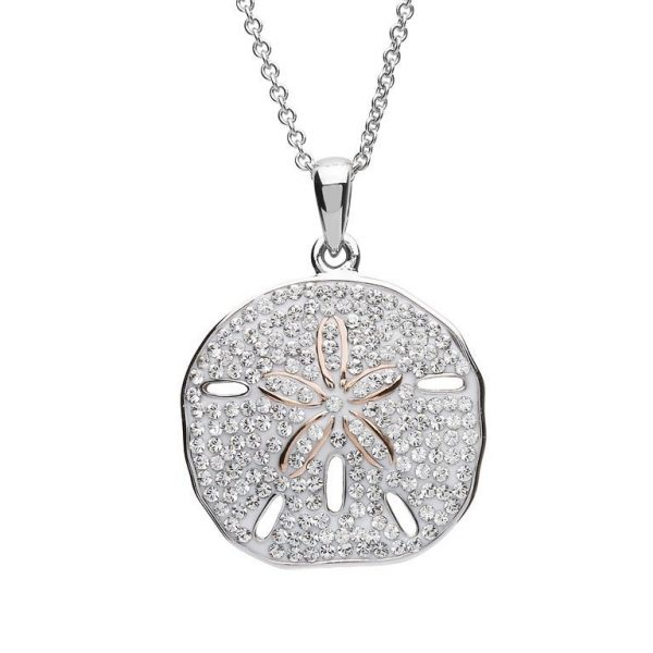 Sand Dollar Necklace With Swarovski® Crystals