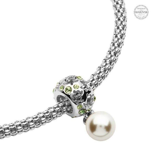 Turtle Charm with Swarovski® Crystals