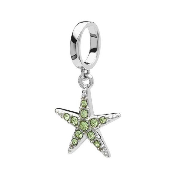 Starfish Bead in Sterling Silver with Swarovski® Crystals