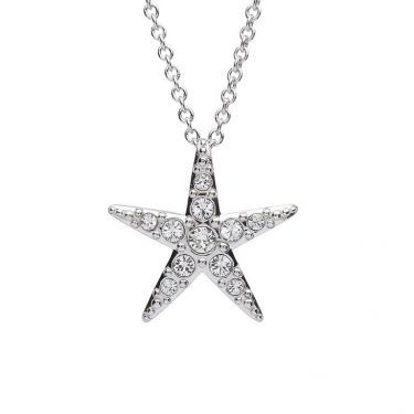 Starfish Pendant With Clear Swarovski® Crystals - Small Size