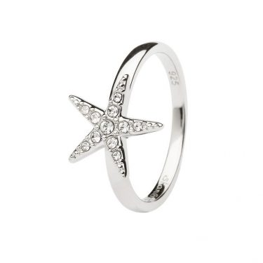 Starfish Ring Encrusted with White Swarovski® Crystal