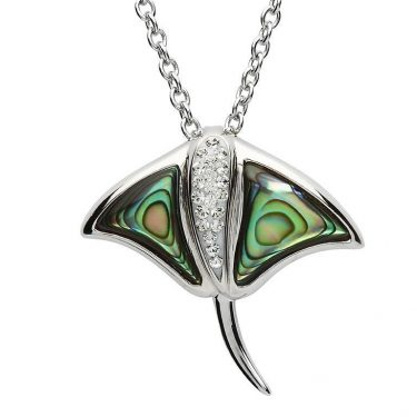 Stingray Necklace with Abalone Shell & Swarovski® Crystals