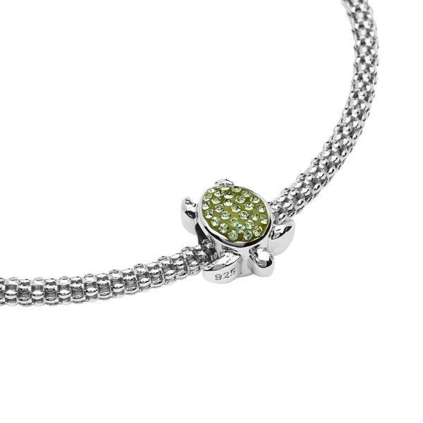 Green Swarovski Turtle Bead with Swarovski® Crystals