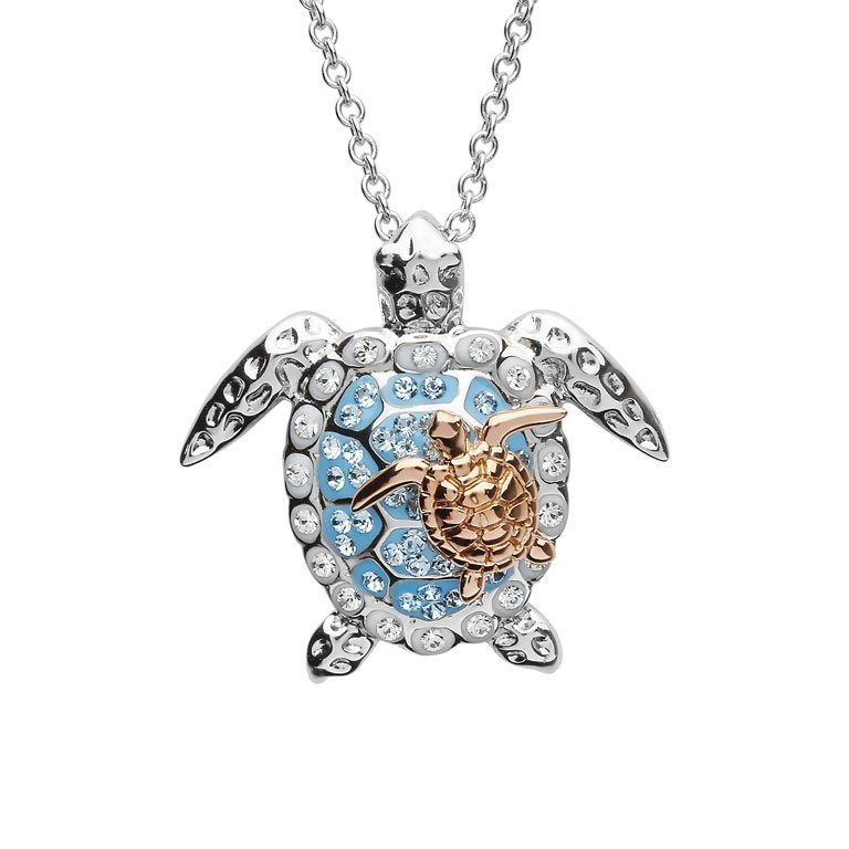 Turtle necklace Mother and Baby