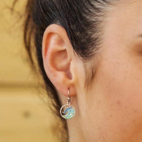 Wave Drop Earrings With Swarovski® Crystals