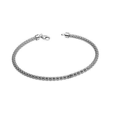 Ocean Charm Bead Bracelet in Sterling Silver