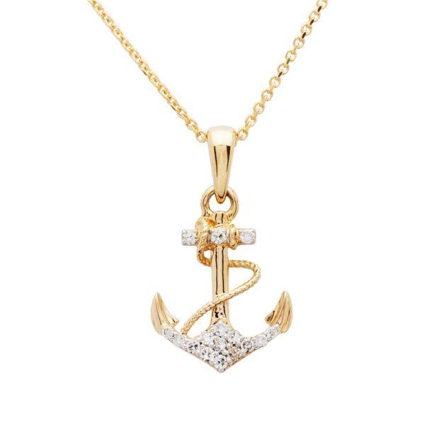 Anchor Necklace 14K Gold