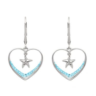 Aqua Starfish Earrings