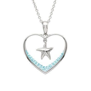 Aqua Starfish Pendant