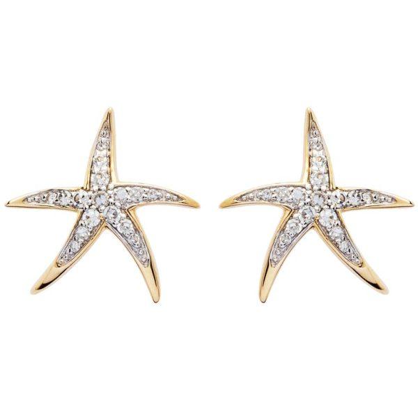 Gold Starfish Jewelry