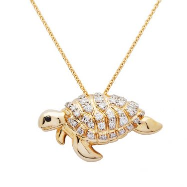 Gold Turtle Pendant Necklace
