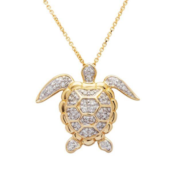 Gold Turtle Pendant