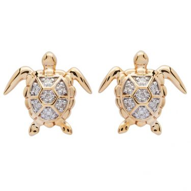 Gold Turtle Stud Earrings