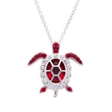 SS Swarovski July Turtle Birthstone Pendant