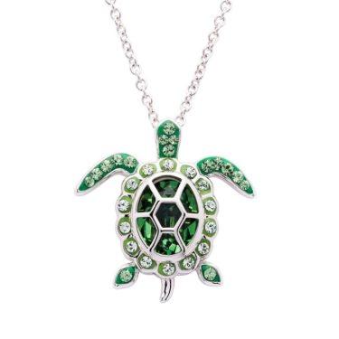 August Turtle Birthstone Pendant