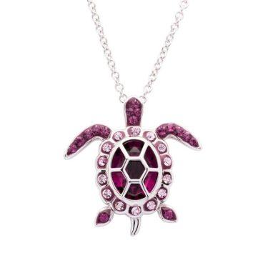 February Turtle Birthstone Pendant