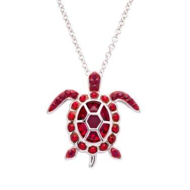 January Turtle Birthstone Pendant