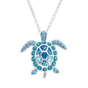 March Turtle Birthstone Pendant