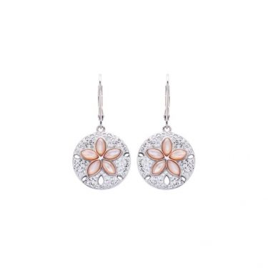 Pink Mother of Pearl Sand Dollar Earring
