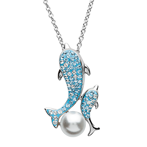Dolphin and Baby blue necklace