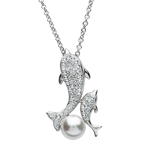 Dolphin and Baby necklace