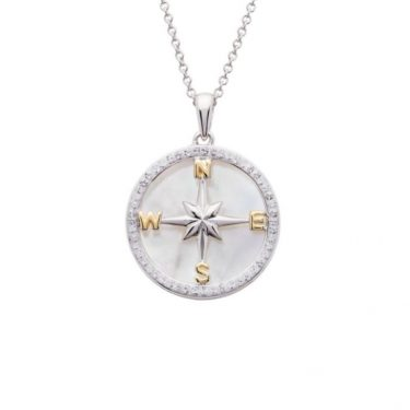 Mother of Pearl Compass Pendant