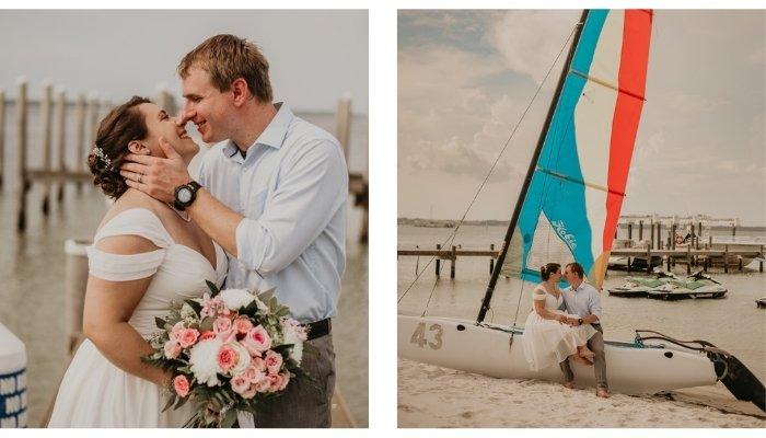 A Covid Beach Wedding Story by Johanna Barker