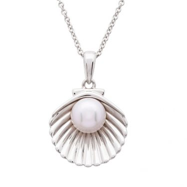 Sterling Silver Pearl Shell Necklace by Ocean Jewelry Store